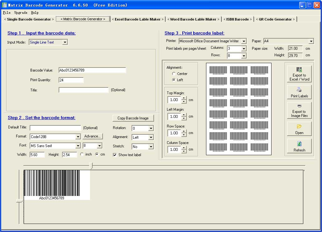 Easier Barcode Label